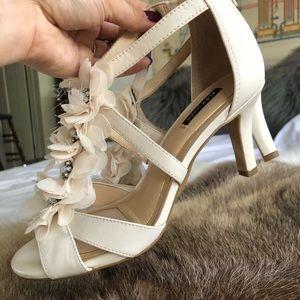Alex Marie t-strap floral wedding high heels